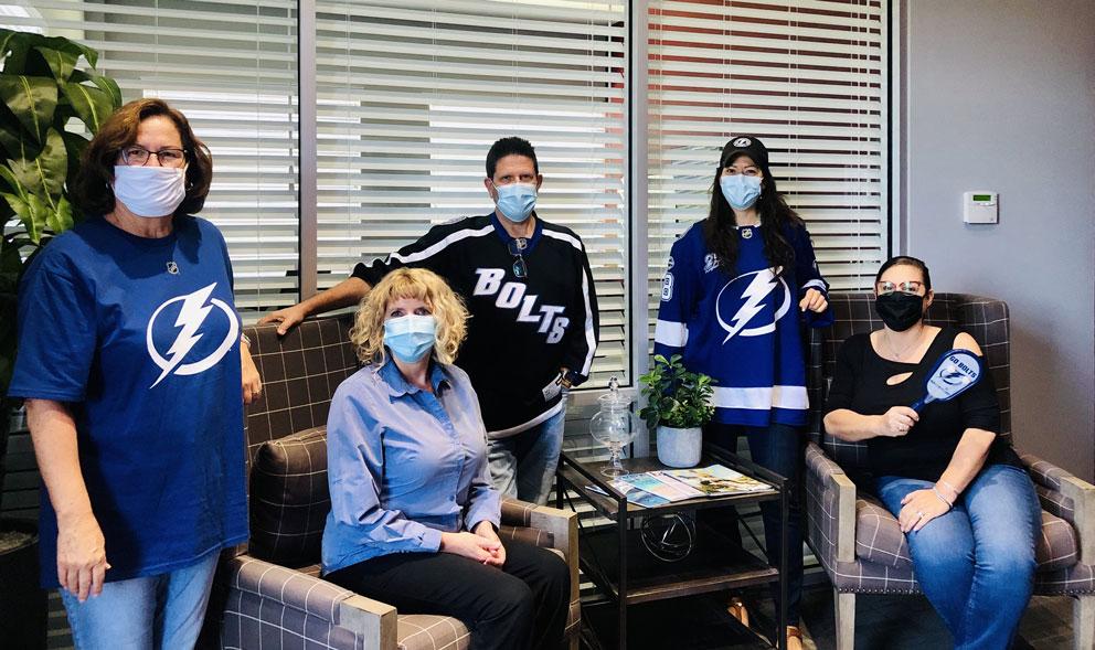 The administrative team brought the THUNDER on Spirit day! Go Lightning!